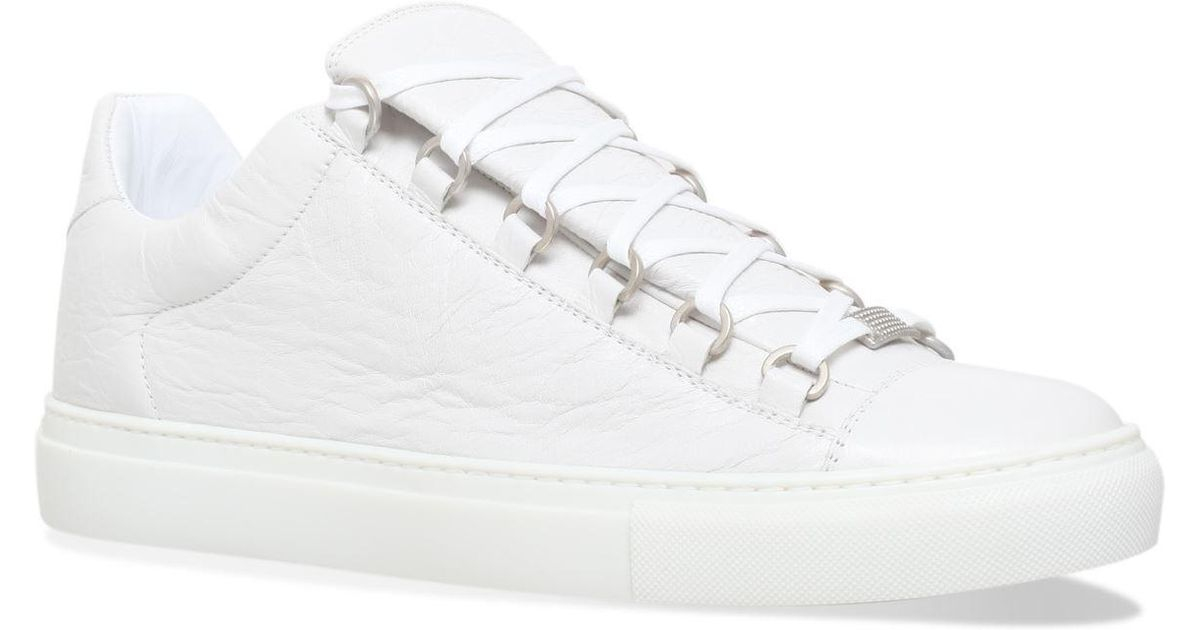 29c7184f4f2d Balenciaga Leather Arena Low-top Sneakers in White for Men - Lyst