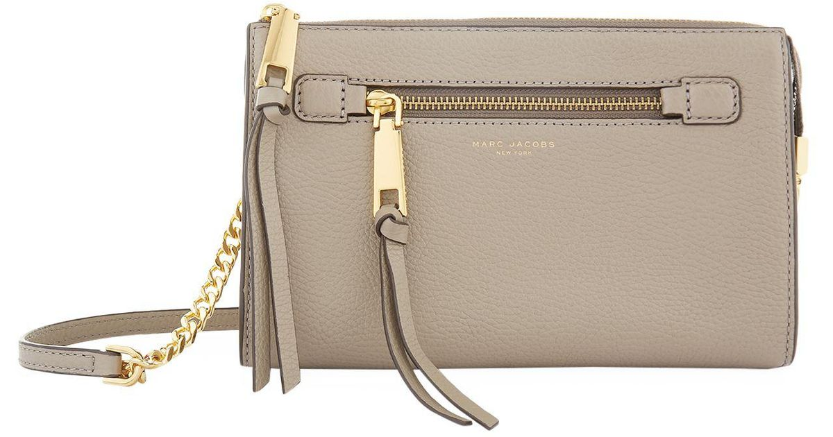 c6b4d21dca43 Marc Jacobs Small Recruit Cross Body Bag in Brown - Lyst
