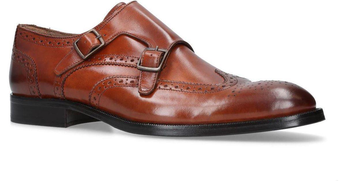 56cb8e2f5064 Kurt Geiger Leather Montgomery Brogues in Natural for Men - Lyst