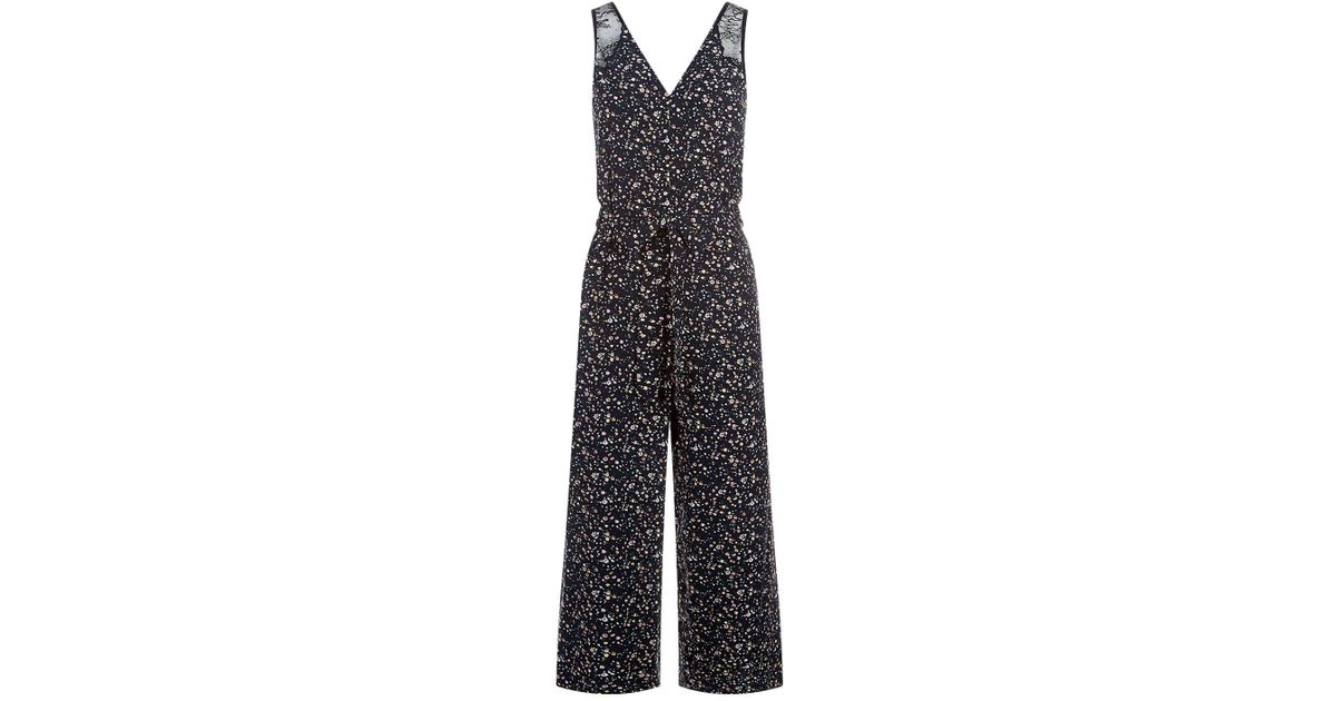 aeb65aebe83 AllSaints Cate Pepper Floral Jumpsuit in Black - Lyst