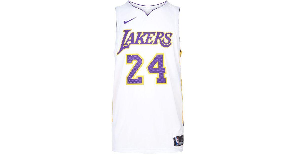 info for 71db0 70665 Nike - White Kobe Bryant Lakers Basketball Jersey for Men - Lyst