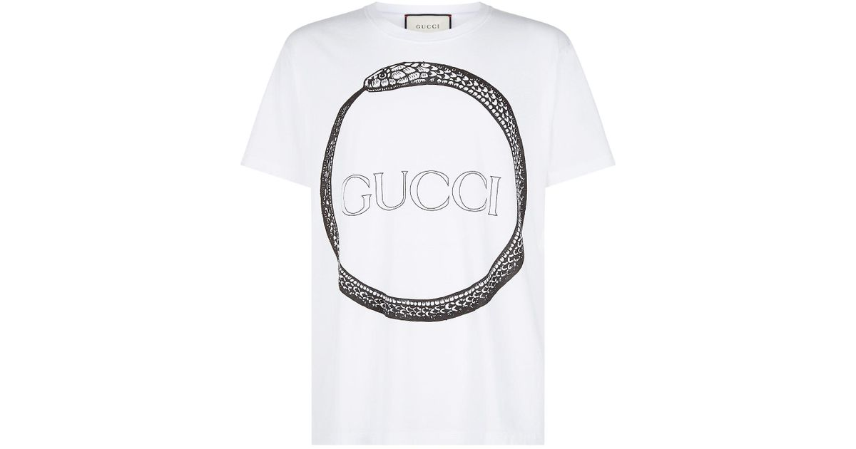 c7cc7b2f5289 Gucci Snake Ring T-shirt in White for Men - Lyst