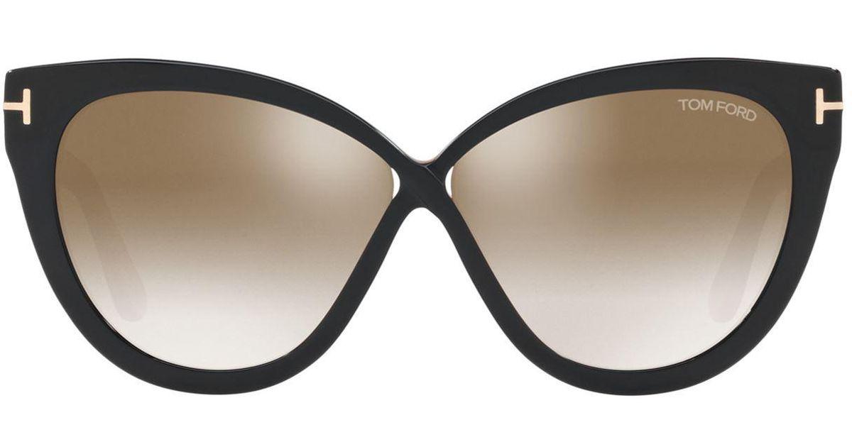 552d7b0309d4a Tom Ford Arabella Cat Eye Sunglasses in Black - Lyst