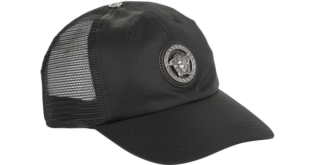 5fd372118cf Versace Medusa Logo Baseball Cap in Black for Men - Lyst