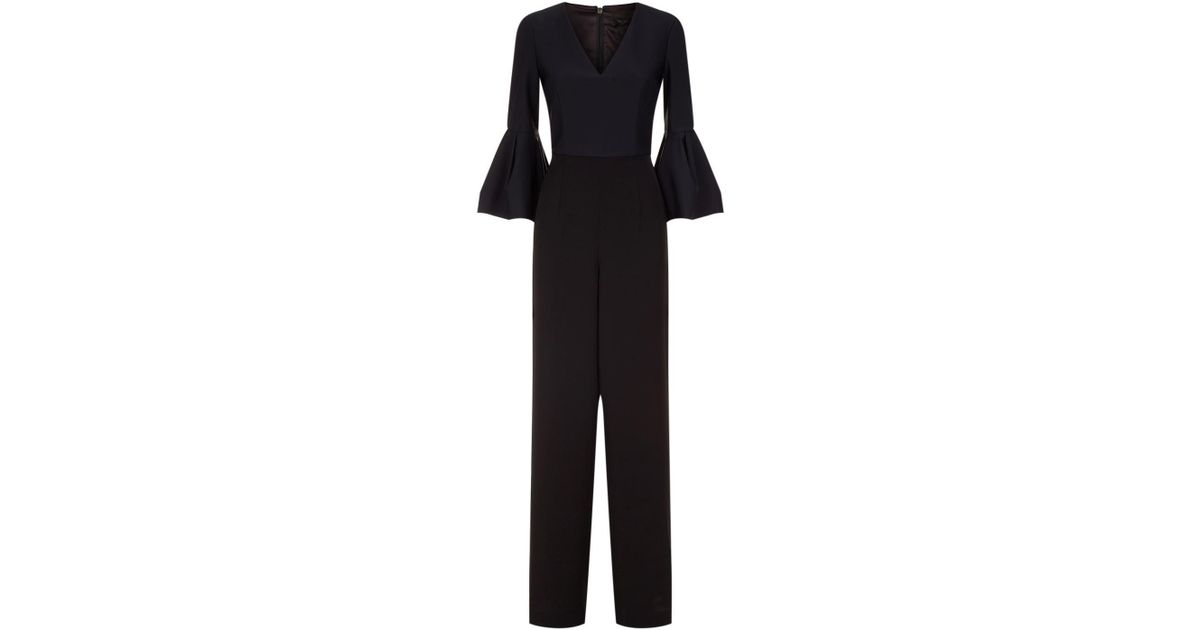268c408316d Lyst - Ted Baker Theah Flared Sleeve Jumpsuit in Black