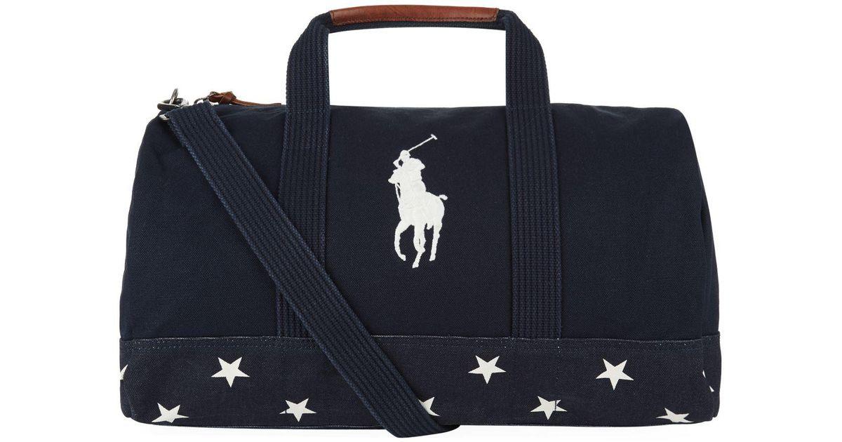 Lyst - Polo Ralph Lauren Canvas Star Bag in Blue for Men b7e6438c51a39