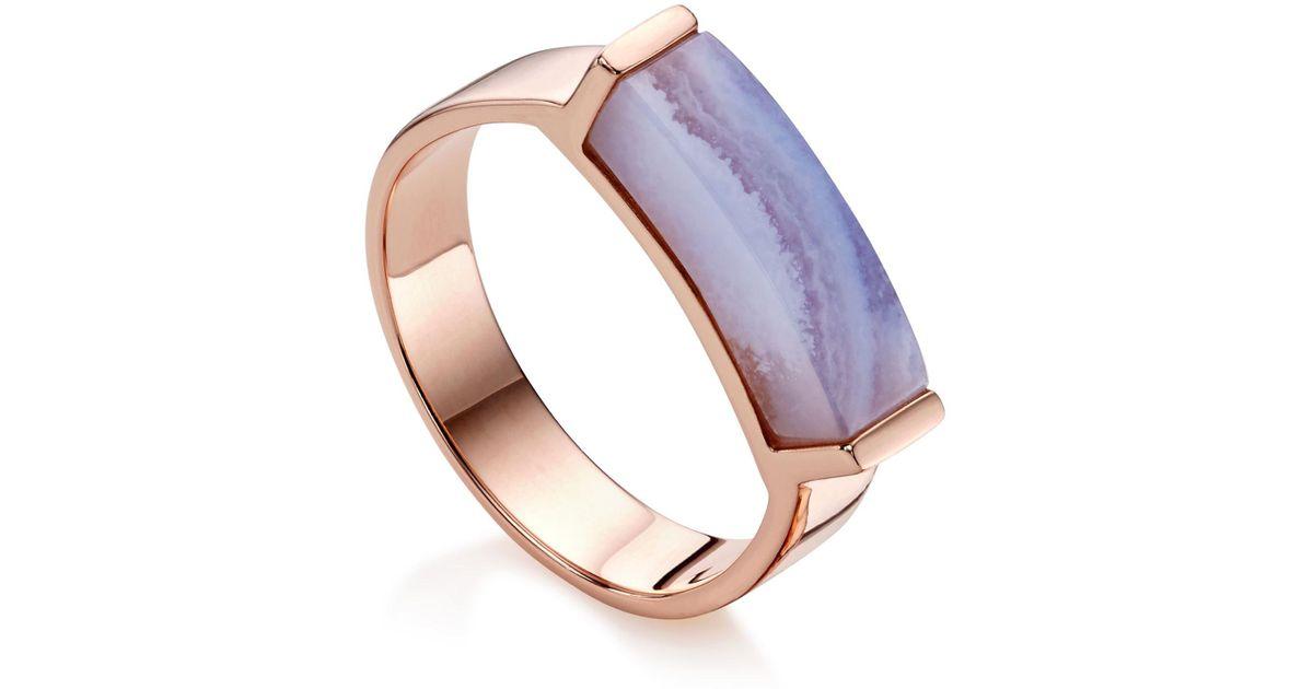 Gold Linear Stone Ring Howlite Monica Vinader Nre2JB