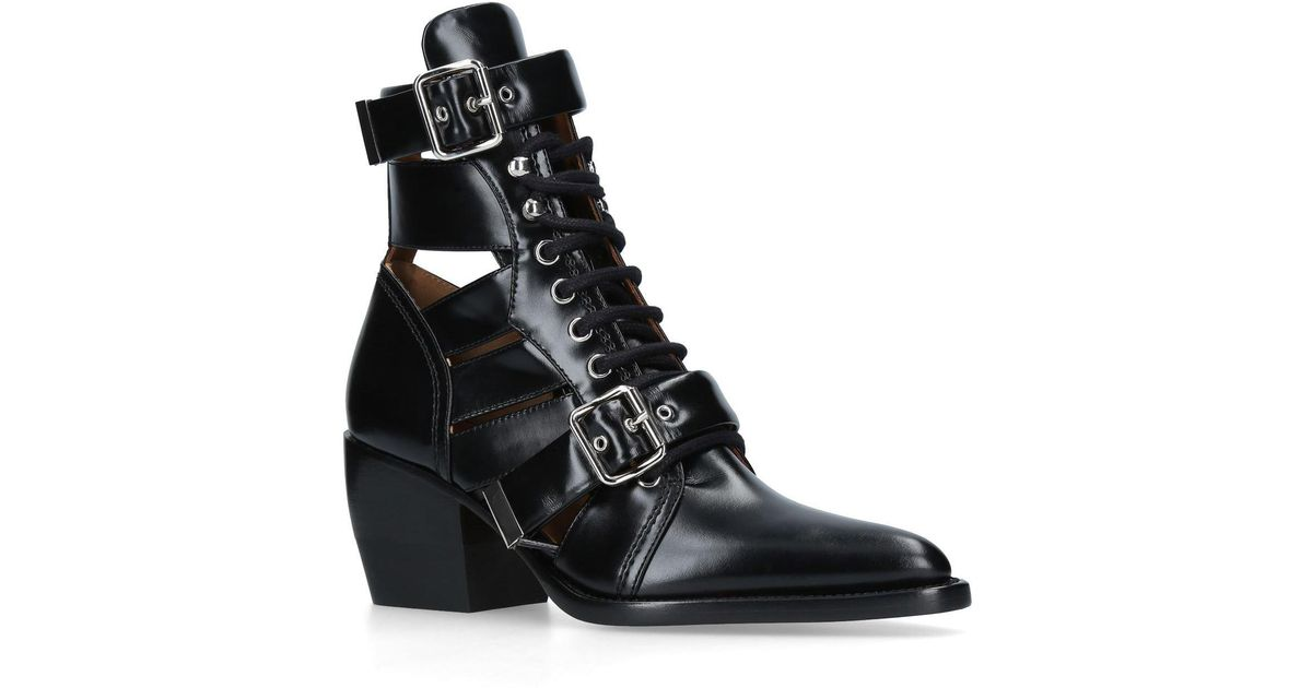Chloé Black Rylee Medium Boots yxCfet