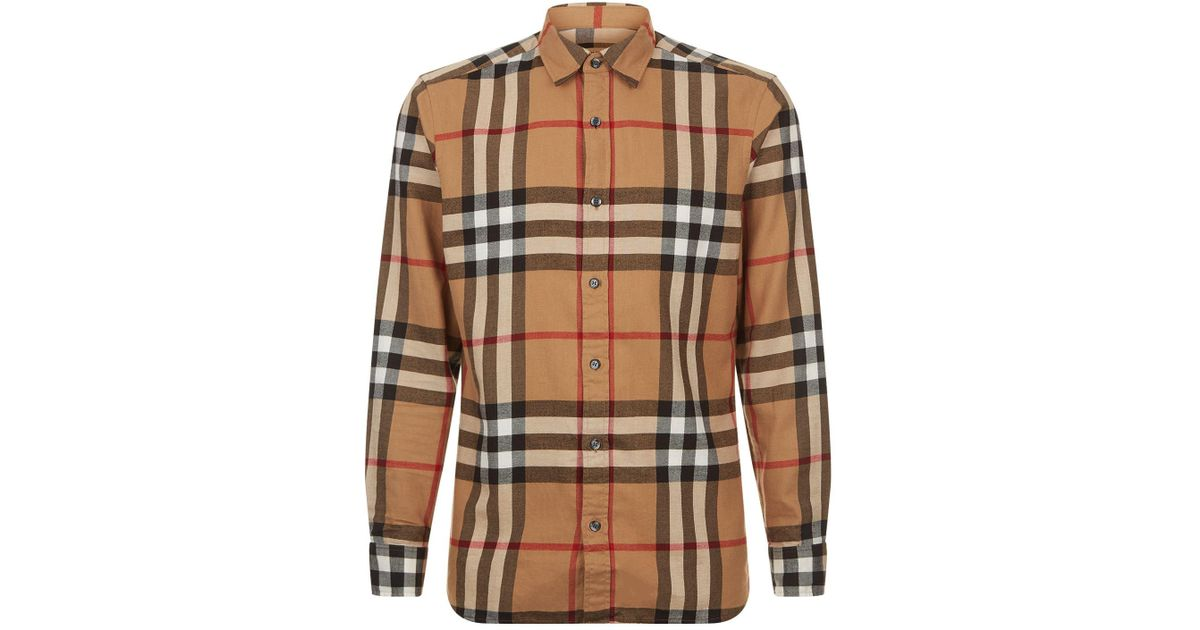 Checked Cotton-flannel Shirt Burberry Cheap Pay With Visa k9khQ