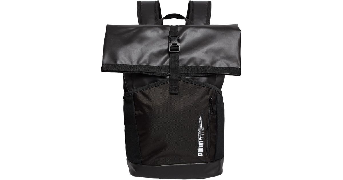 PUMA Energy Roll-top Backpack in Black for Men - Lyst c143d772988f2