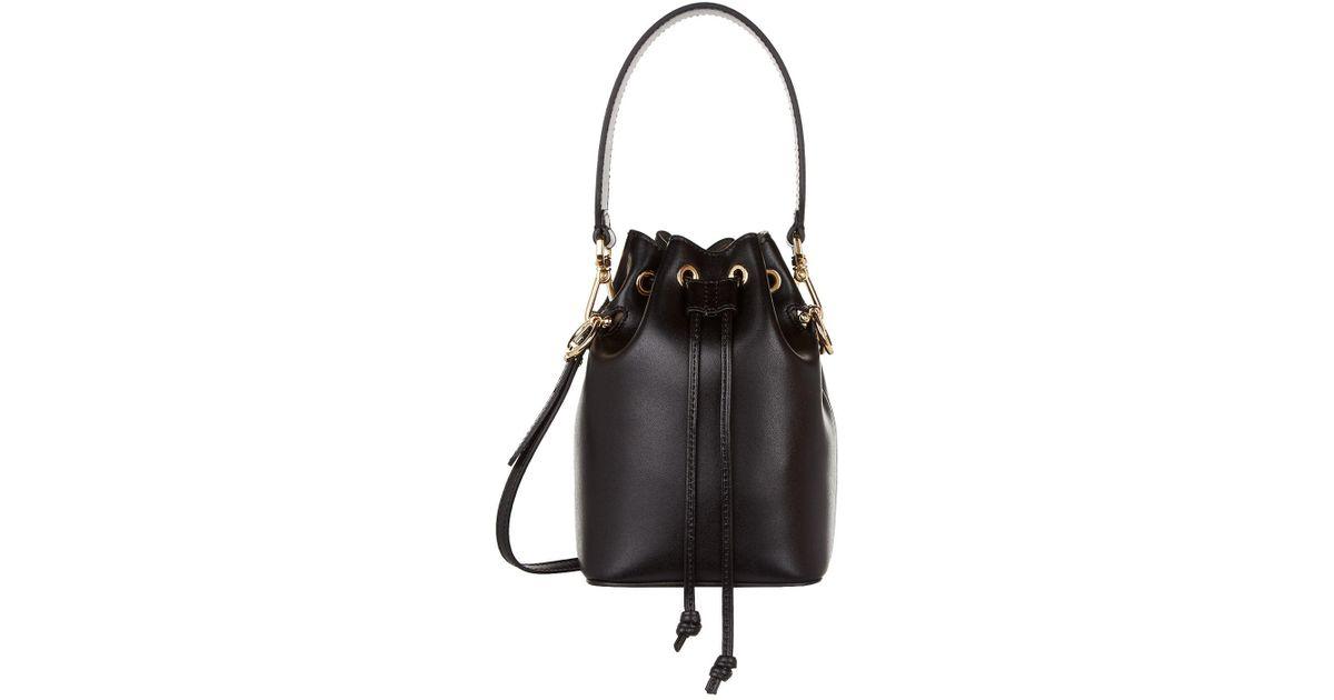 c8266e7d3958 Fendi Mini Mon Tresor Leather Bucket Bag in Black - Save 8% - Lyst