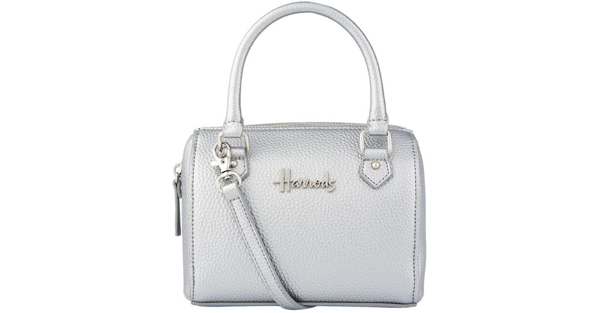 339611b3ff1c Lyst - Harrods Micro Mini Barrel Bag in Metallic