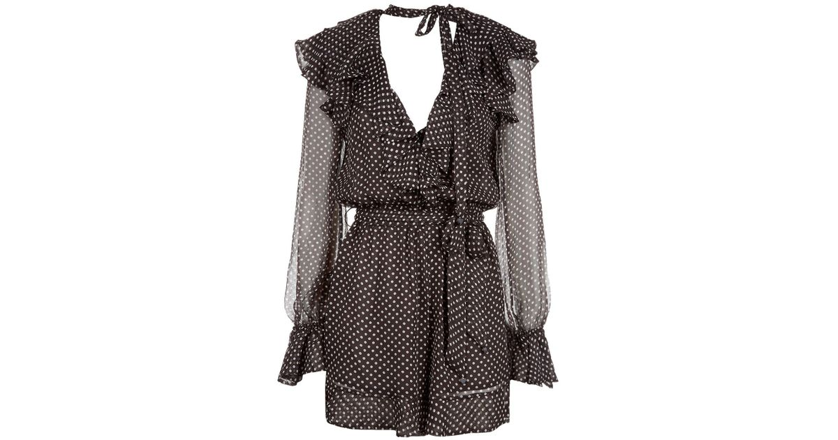 8dce4ffa0d Zimmermann Painted Heart Cascade Playsuit in Gray - Lyst