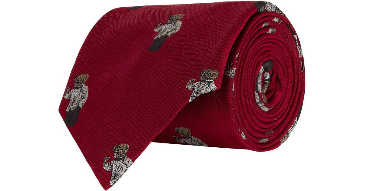 99bbc7608f1d Polo Ralph Lauren Tuxedo Polo Bear Tie in Red for Men - Lyst