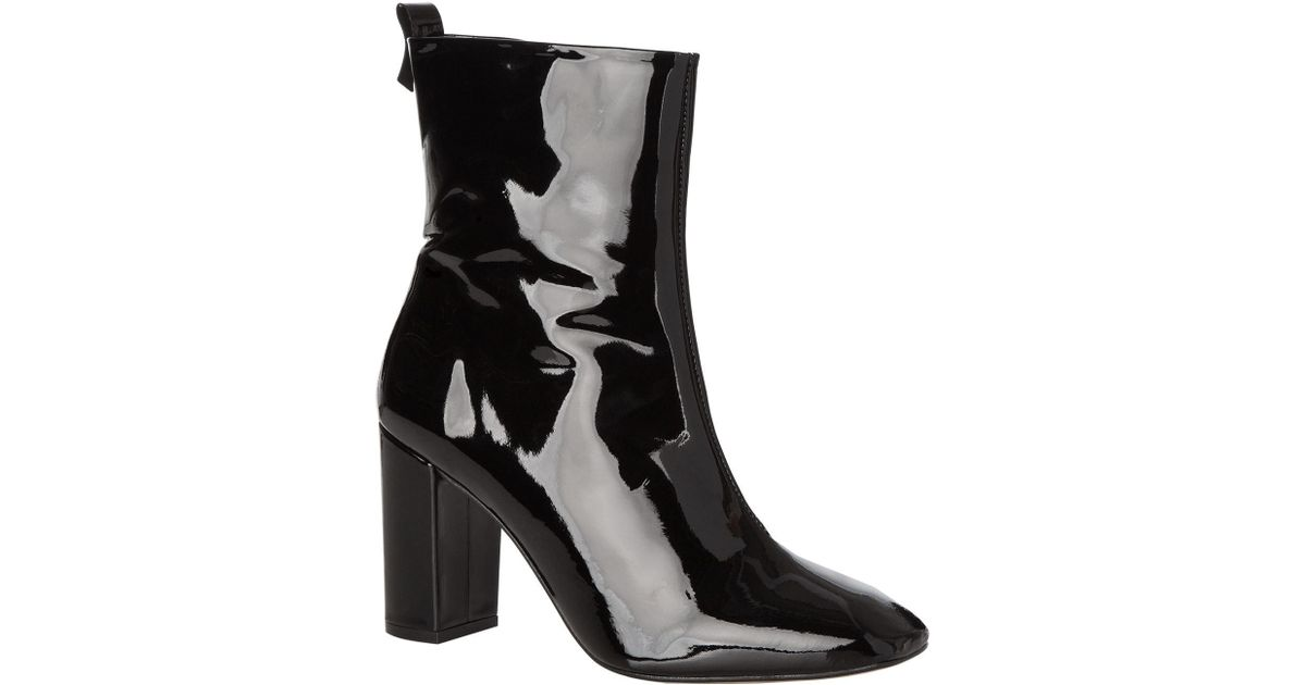 1bd06821ab3a Lyst - KG by Kurt Geiger Strut Patent Ankle Boots in Black