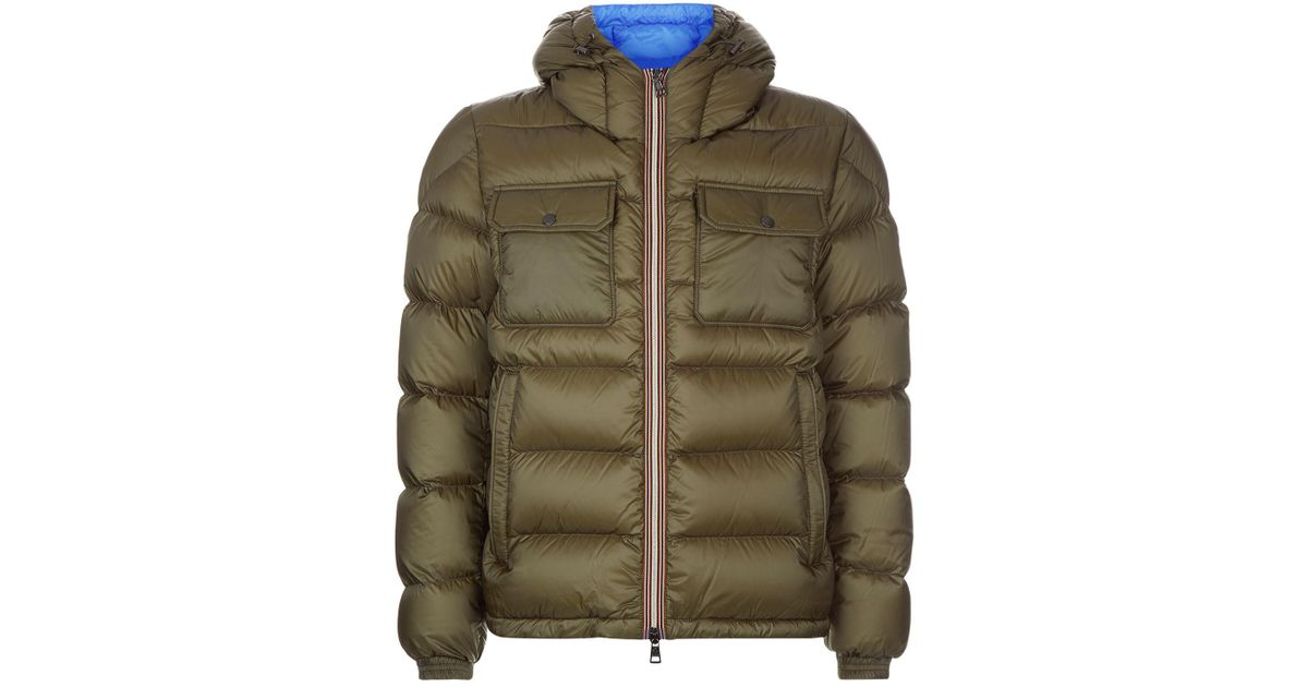 459a97a1c2d2a Lyst - Moncler Morane Hooded Puffer Jacket in Green for Men