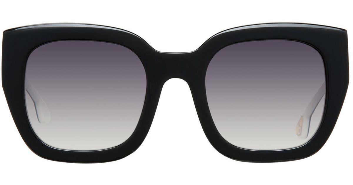 c691a57c23 Alice + Olivia Aberdeen Square Sunglasses in Black - Lyst