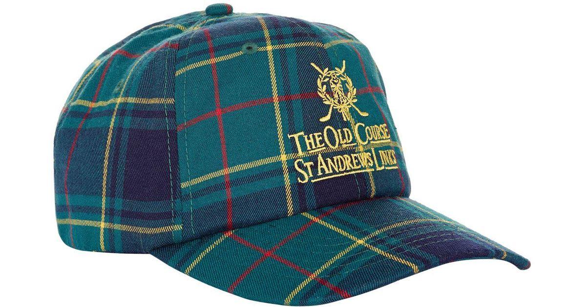 6c80e7e5b64 Lyst - Harrods St Andrews Tartan Golf Cap for Men