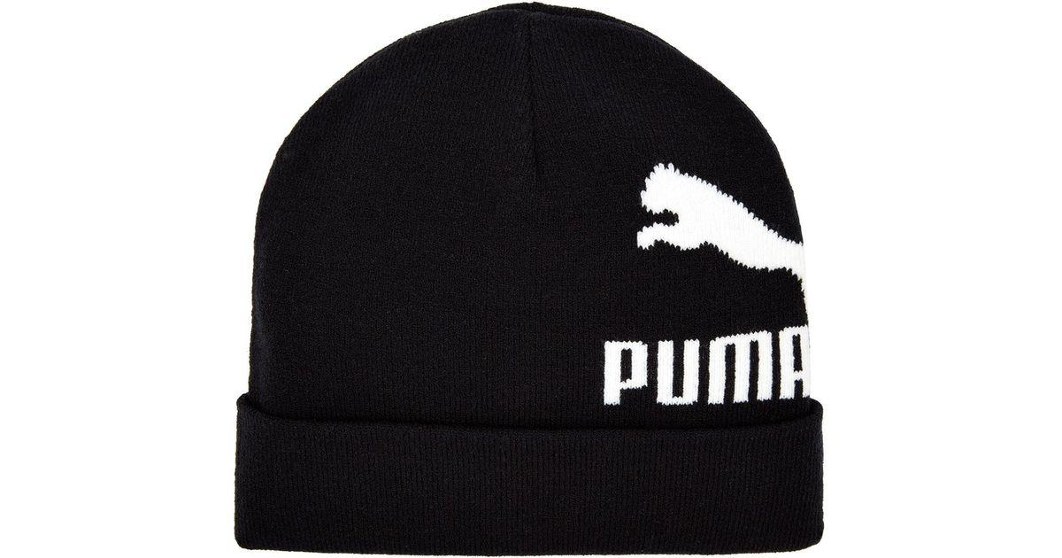 909691e71bb Lyst - PUMA Logo Beanie in Black for Men