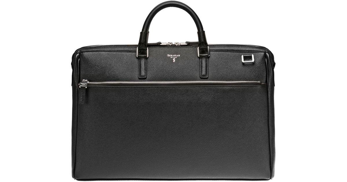 c34b369f39d7 Serapian Evolution Computer Briefcase in Black for Men - Lyst