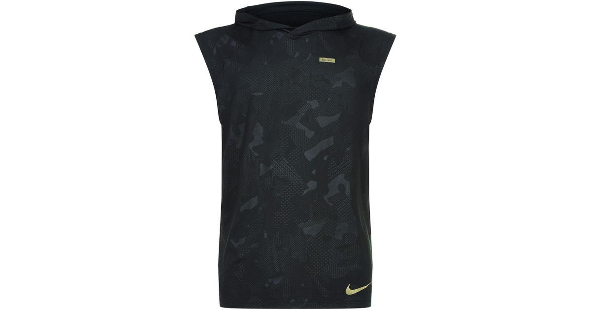 b70dde80676b4 Lyst - Nike Element Sleeveless Running Hoodie in Black for Men