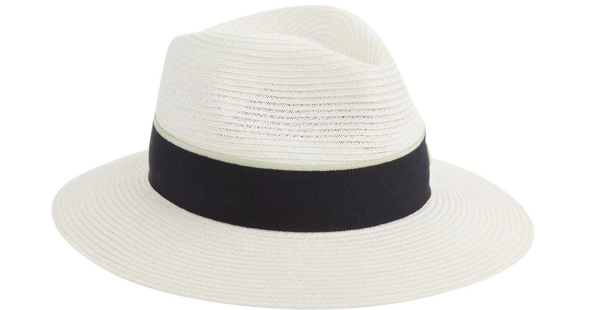 fe2b697d47b1f4 Lyst - Maison Michel Rico Straw Hat, Cream, L in Natural