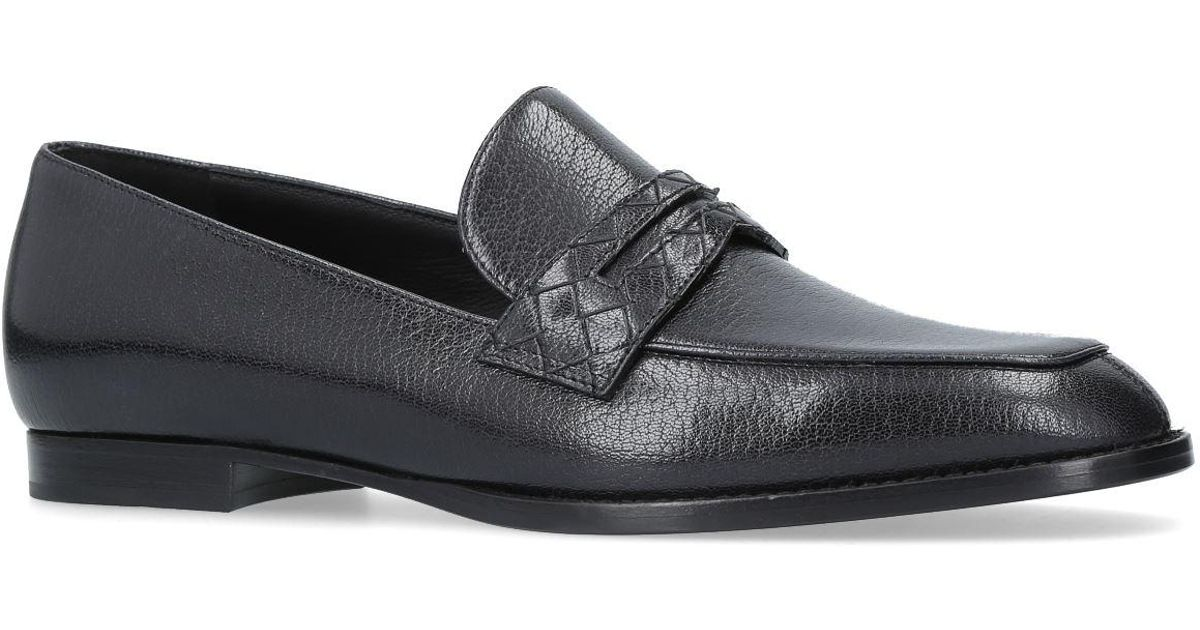 Bottega Veneta Leather Penny Loafers ys806hjOqb