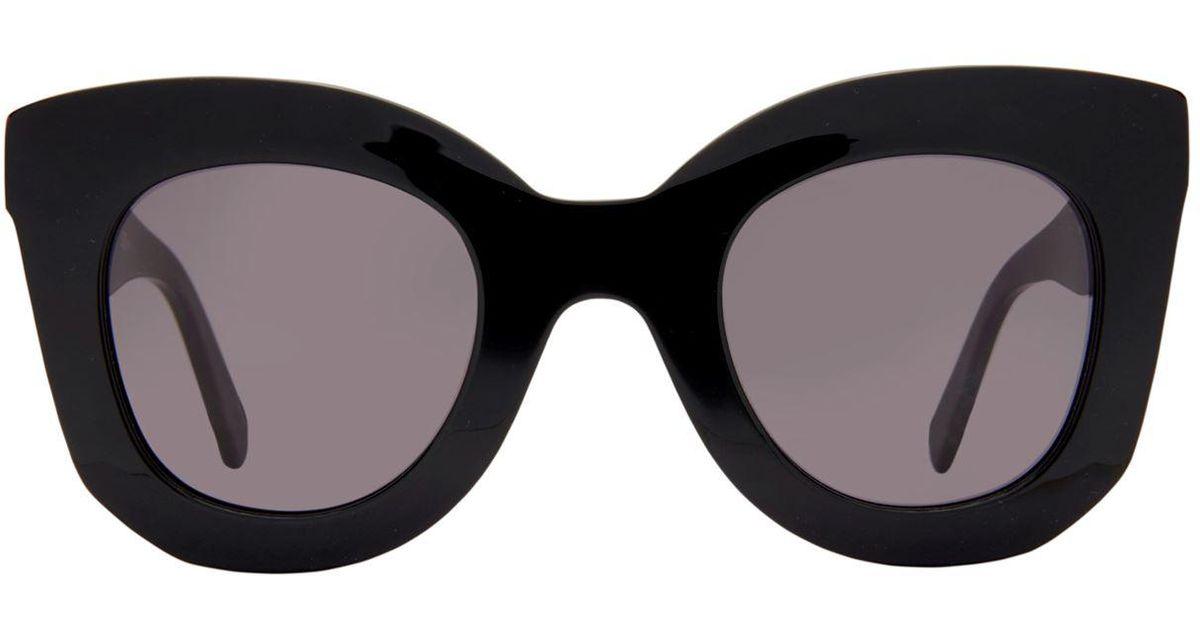 57e485fb2a7e Lyst - Céline Marta Rectangle Sunglasses in Black