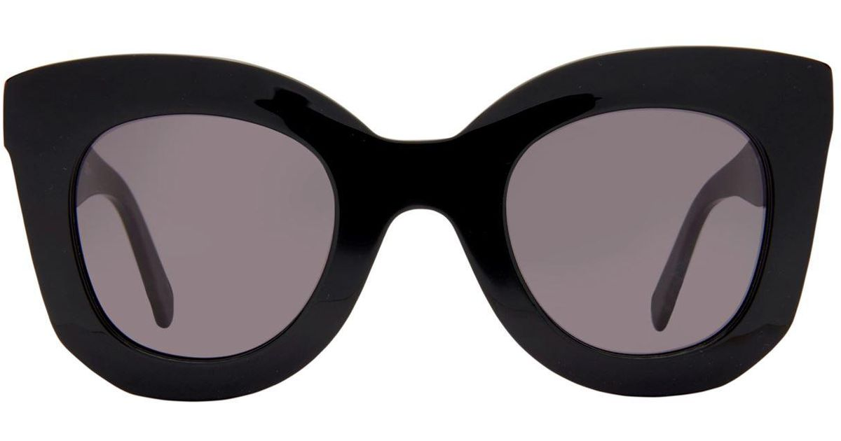 f6103b6c268 Lyst - Céline Marta Rectangle Sunglasses in Black