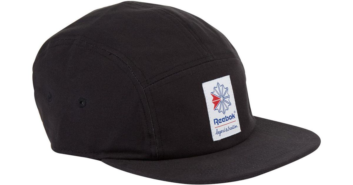 c6a1a535794 Reebok Classics Foundation 5-panel Cap in Black for Men - Lyst