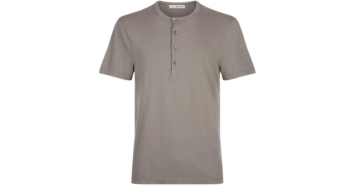 Lyst james perse henley t shirt in natural for men for James perse henley shirt