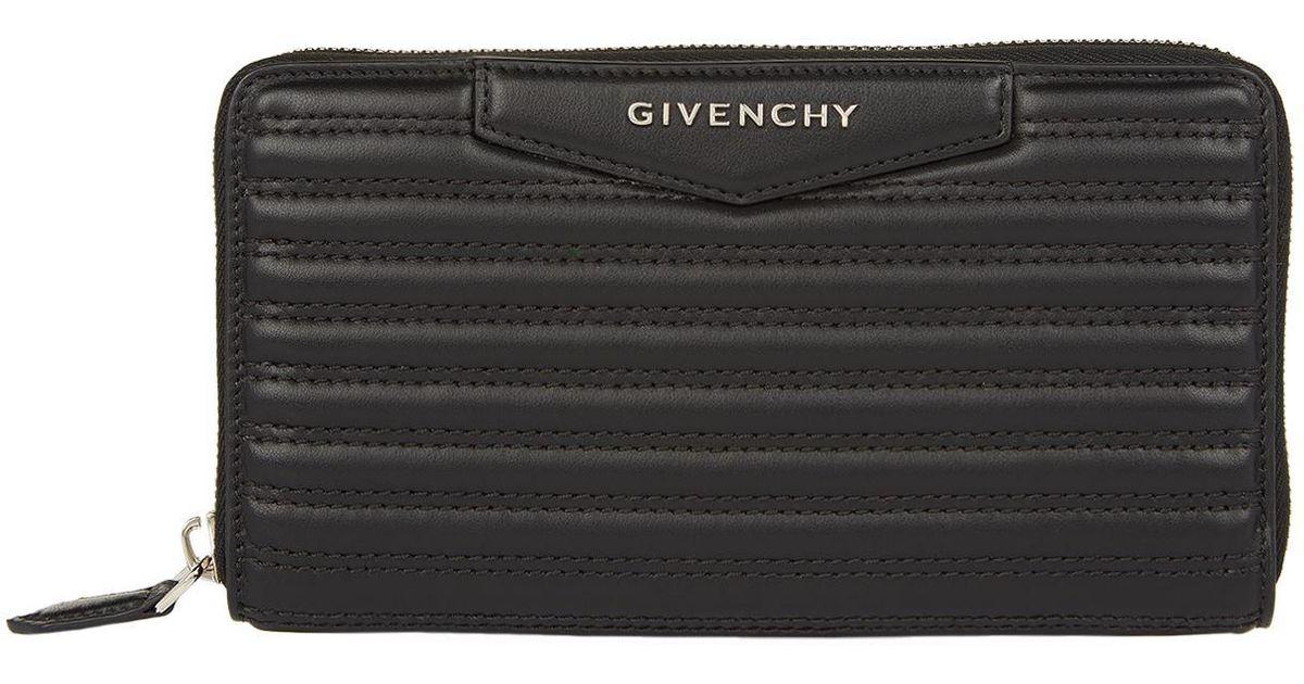 b34de2485f Givenchy Antigona Zip-around Wallet in Black - Lyst