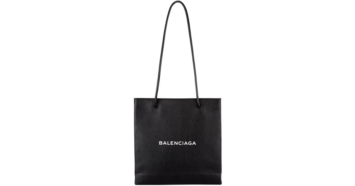 Lyst Balenciaga Small Leather Shopping Tote Bag In White