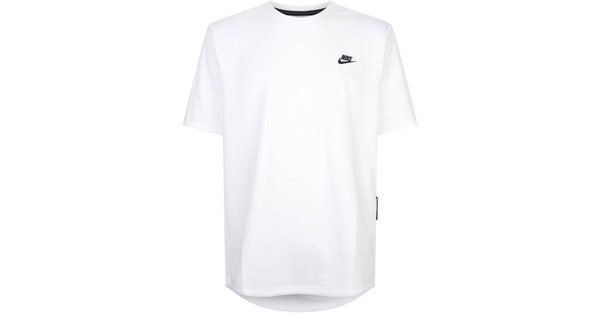 9a68a7303 Nike Tech Fleece T-shirt in White for Men - Lyst