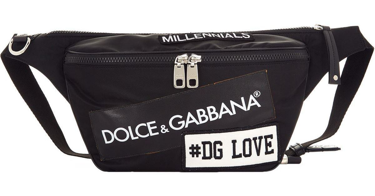 4e71bddbef Lyst - Dolce   Gabbana Logo Waist Pouch