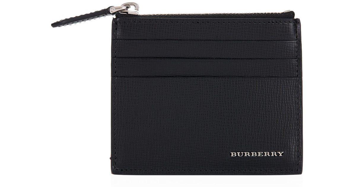 lyst burberry zip pocket card holder in black - Zip Card Holder