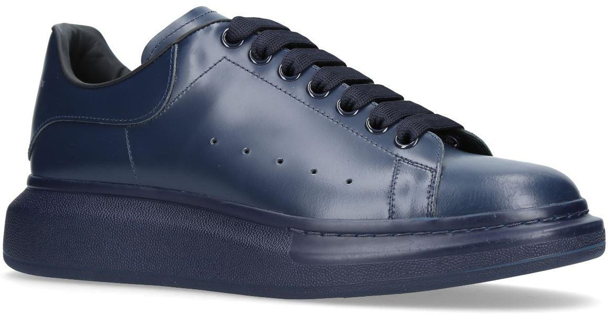 Lyst Alexander Mcqueen Tonal Oversized Sneakers In Blue For Men