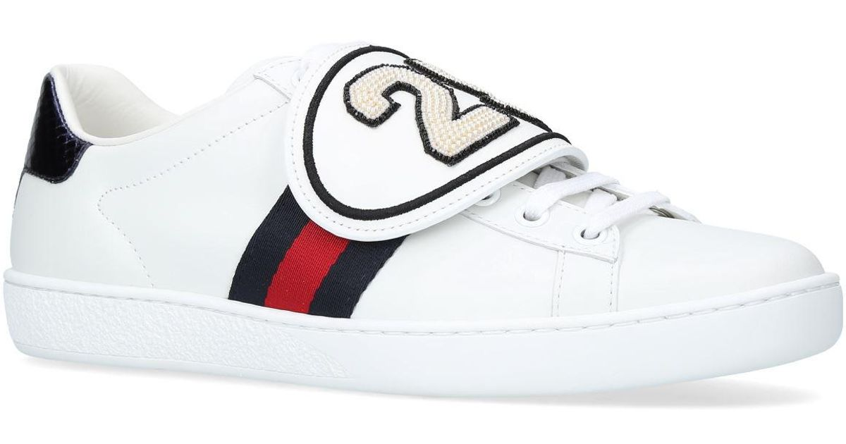 928e46f988e Gucci New Ace Sneakers With Removable Patches in White - Lyst