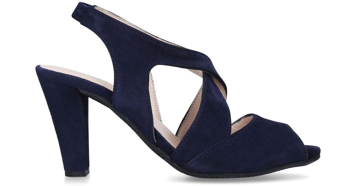 f51d121cf2e Carvela Kurt Geiger Suede Annabel Sandals in Blue - Lyst
