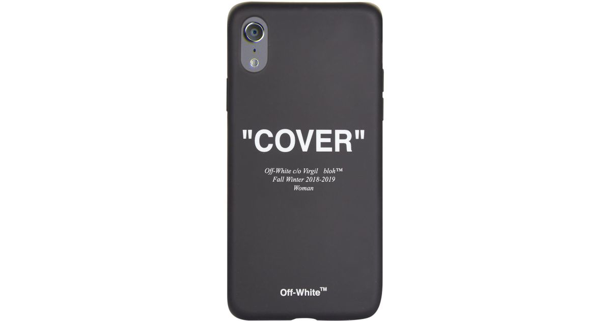 49ddbc640e32 Lyst - Off-White c o Virgil Abloh Cover Quote Iphone X Case in Black