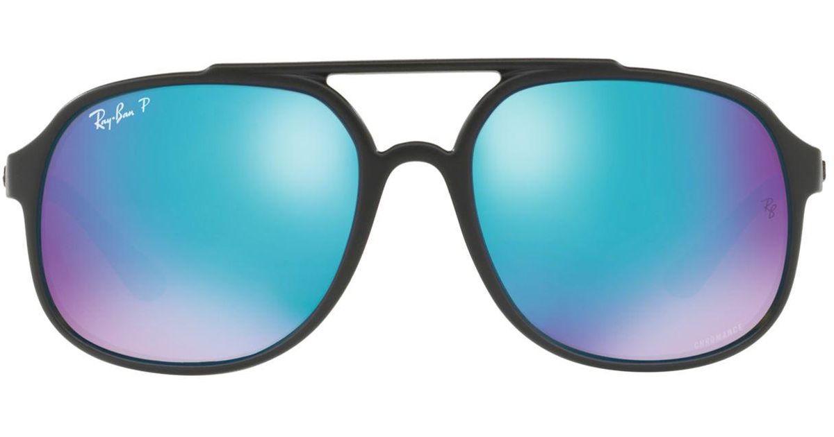 03219f71b6f Ray-Ban Chromance Pilot Sunglasses in Black for Men - Lyst