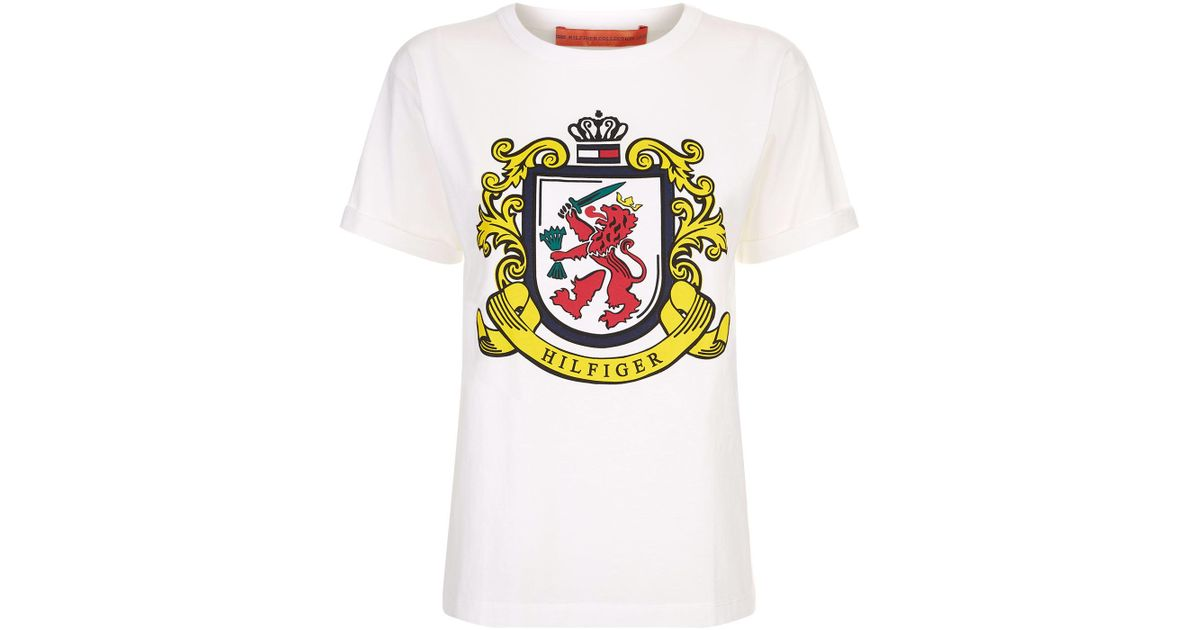 d71eb720 Tommy Hilfiger Crest Logo T-shirt in White for Men - Lyst
