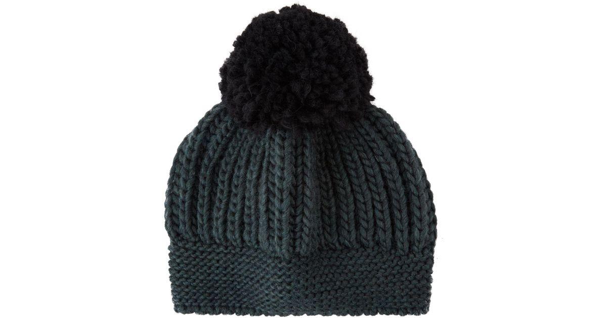 e3cb1dac5d2 Sandro Beryl Pom Pom Beanie Hat in Green - Lyst
