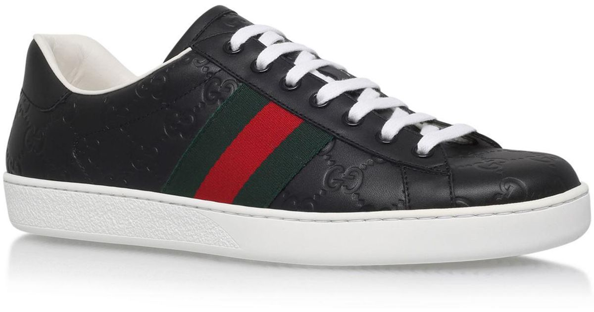 5be22202ed498 Lyst - Gucci GG Supreme Ace Sneakers in Black for Men