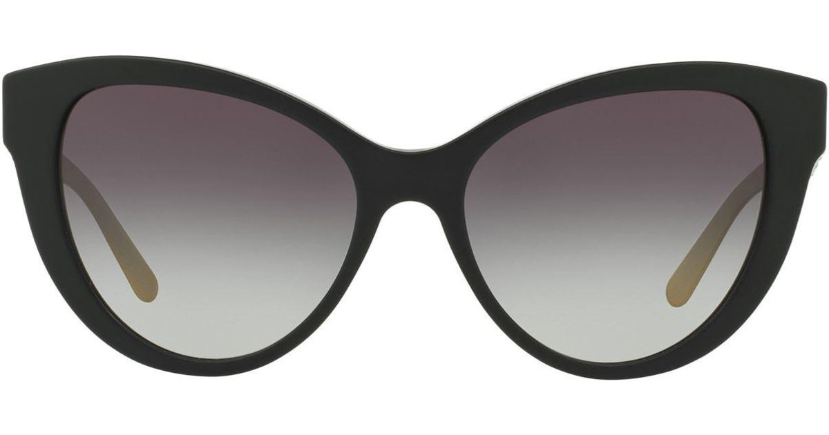 bb118b9522 Burberry Cat Eye Sunglasses in Black - Lyst