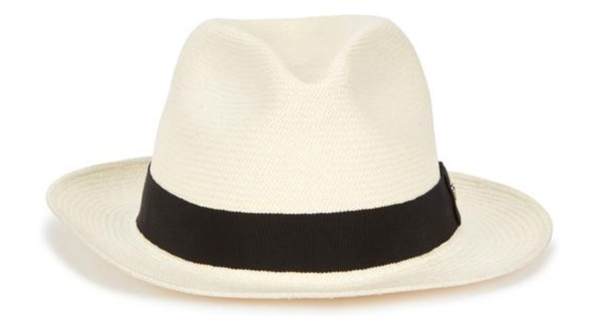 49f66bb11fa91 Helen Kaminski Cassa Ivory Straw Panama Hat in White for Men - Lyst
