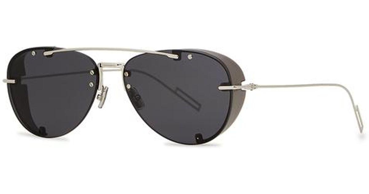 2b696da1680b9 Dior Homme Dior Chroma 1 Aviator-style Sunglasses in Metallic for Men - Lyst
