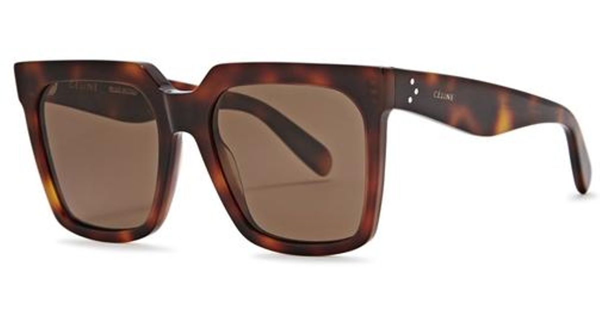 0e12c1afbf Céline Light Tortoiseshell Wayfarer-style Sunglasses in Brown - Lyst