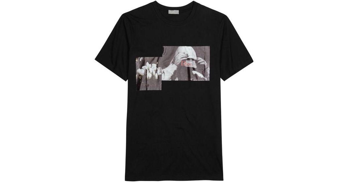900706a5576 Dior Homme François Bard-print Cotton T-shirt in Black for Men - Lyst