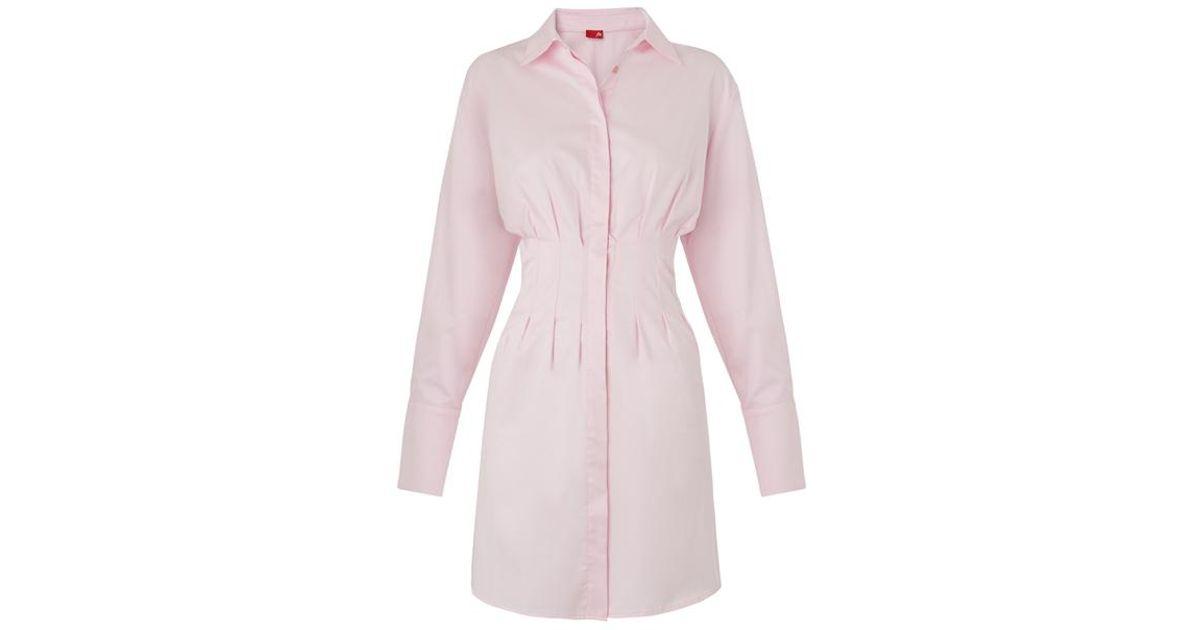 8d96b6082c Kitri Rose Shirt Dress in Pink - Lyst